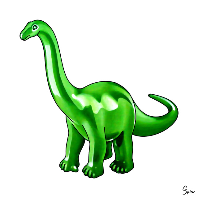 Apatosaurus - Illustration by Christopher Spicer