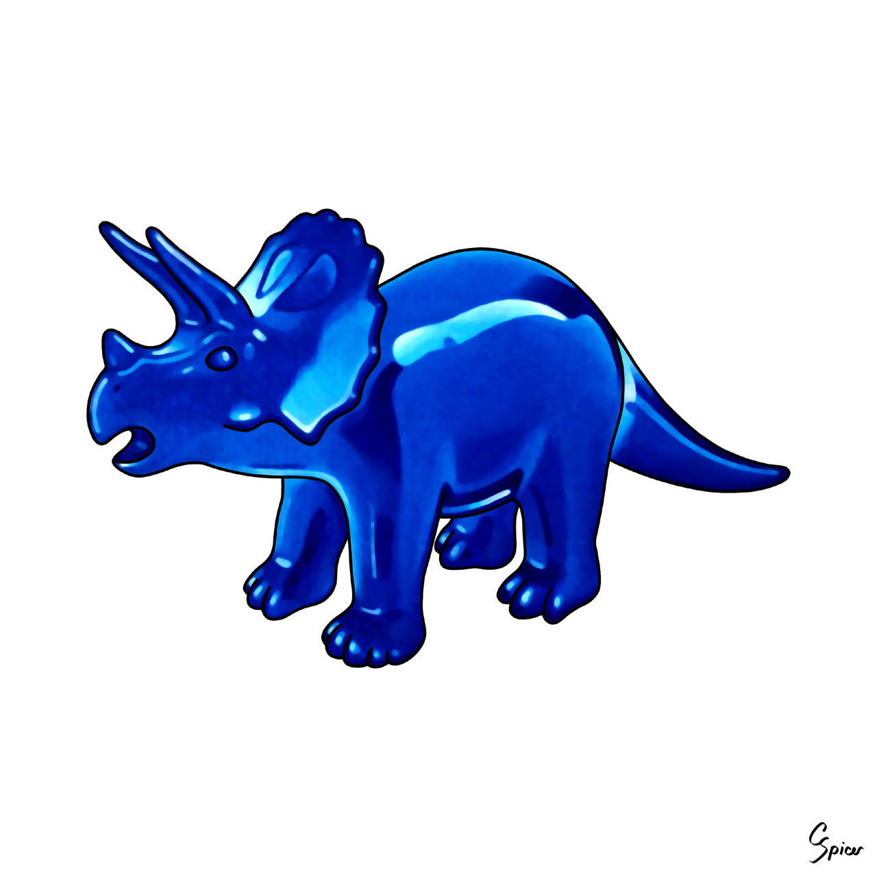 Triceratops - Illustration by Christopher Spicer