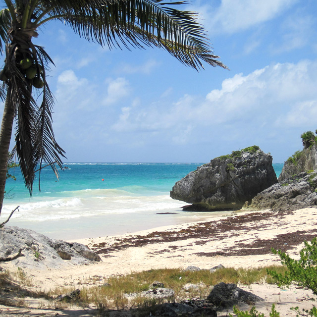 Tulum Beach - Photograph by Christopher Spicer