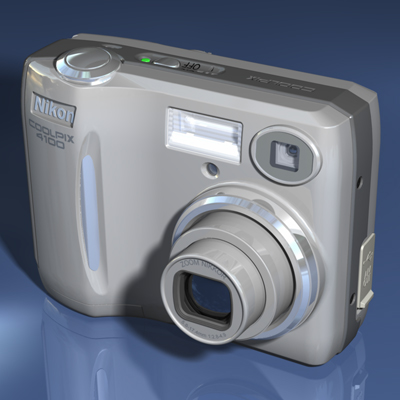 Nikon Coolpix 4100 Digital Camera - Electronic Model by Christopher Spicer