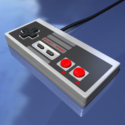 Nintendo Entertainment System Video Game Controller - Electronic Model by Christopher Spicer