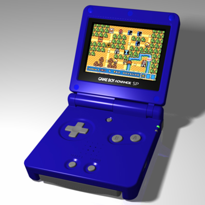 Nintendo Game Boy Advance SP Video Game Console - Electronic Model by Christopher Spicer