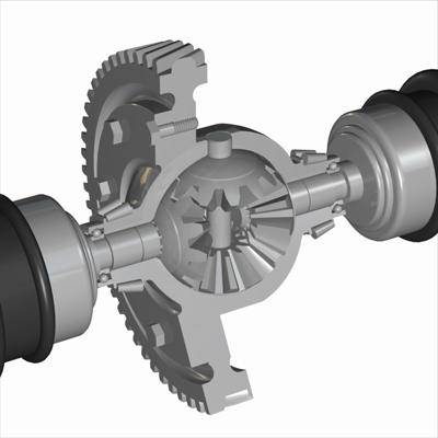 Differential Gearbox - Mechanical Model by Christopher Spicer