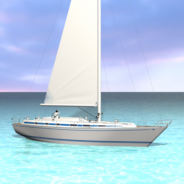 Swan 55 Sailboat - Vehicle Model by Christopher Spicer